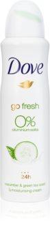 Dove Go Fresh Cucumber & Green Tea дезодорант без вмісту спирту та алюмінію 24 години