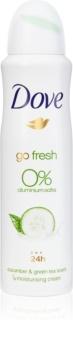 Dove Go Fresh Cucumber & Green Tea alkohol - und aluminiumfreies Deo 24 h
