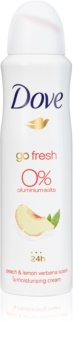 Dove Go Fresh Peach & Lemon Verbena Deospray ohne Aluminium