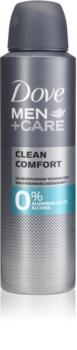 Dove Men+Care Clean Comfort αποσμητικό χωρίς οινόπνευμα και αλουμίνιο 24 ώρες