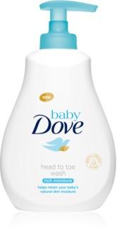 Dove Baby Rich Moisture gel za umivanje za telo in lase