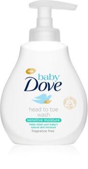 Dove Baby Sensitive Moisture mycí gel na tělo a vlasy