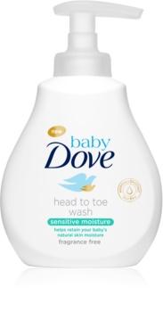 Dove Baby Sensitive Moisture umývací gél na telo a vlasy