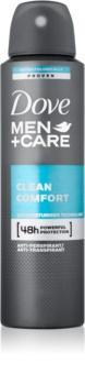 Dove Men+Care Clean Comfort deodorant antiperspirant ve spreji 48h