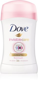 Dove Invisible Care Floral Touch Antitranspirant-Stick gegen weiße Flecken ohne Alkohol