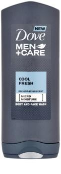 Dove Men+Care Cool Fresh gel de duche para corpo e rosto
