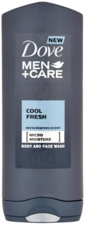 Dove Men+Care Cool Fresh gel za prhanje za telo in obraz