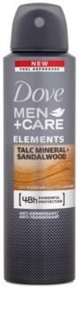 Dove Men+Care Elements spray anti-transpirant 48h