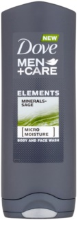 Dove Men+Care Elements gel de ducha para rostro y cuerpo 2 en 1