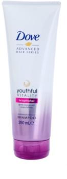 Dove Advanced Hair Series Youthful Vitality šampón pre unavené vlasy bez lesku