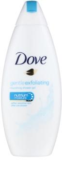 Dove Gentle Exfoliating gel de banho nutritivo com efeito peeling