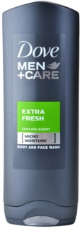 Dove Men+Care Extra Fresh gel za prhanje za telo in obraz