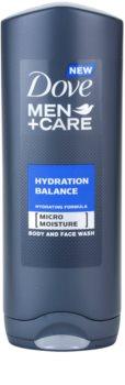Dove Men+Care Hydration Balance gel de banho para corpo e cabelo para homens