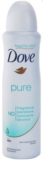 Dove Pure desodorizante antitranspirante em spray