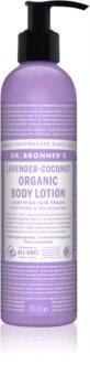 Dr. Bronner's Lavender & Coconut intenzívne vyživujúce telové mlieko pre normálnu a suchú pokožku