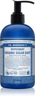 Dr. Bronner's Peppermint рідке мило для тіла та волосся