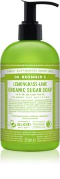 Dr. Bronner's Lemongrass & Lime Vloeibare Zeep  voor Lichaam en Haar