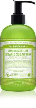 Dr. Bronner's Lemongrass & Lime рідке мило для тіла та волосся
