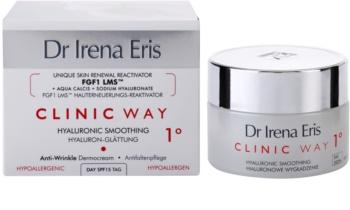 Dr Irena Eris Clinic Way 1° denný hydratačný a vyhladzujúci krém k redukcii mimických vrások SPF 15