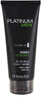 Dr Irena Eris Platinum Men Clean-Up osvježavajući gel za tuširanje za tijelo i kosu