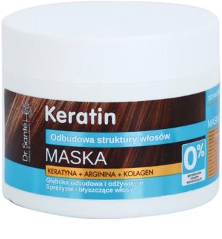 Dr. Santé Keratin βαθιά αποκαταστατική και θρεπτική μάσκα εύθραυστα μαλλιά χωρίς λάμψη