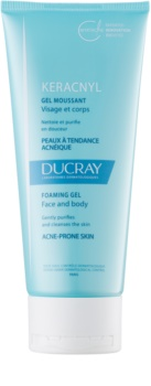 Ducray Keracnyl Reinigungsschaumgel für fettige Haut mit Neigung zu Akne