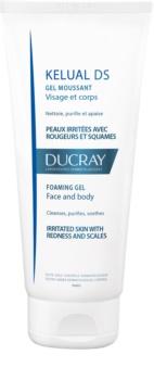Ducray Kelual DS Schaumgel zur sanften Reinigung gereizter Haut Für Gesicht und Körper