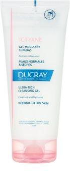 Ducray Ictyane пінистий очищуючий гель для нормальної та сухої шкіри