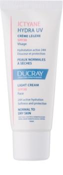Ducray Ictyane könnyű krém normál és száraz bőrre SPF 30