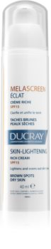 Ducray Melascreen výživný denní krém proti pigmentovým skvrnám SPF 15