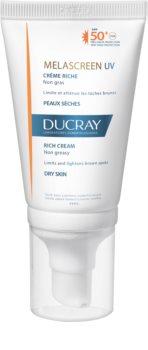 Ducray Melascreen krém na opaľovanie proti pigmentovým škvrnám SPF 50+