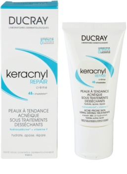 Ducray Keracnyl regenerierende und hydratisierende Creme für durch die Akne Behandlung trockene und irritierte Haut