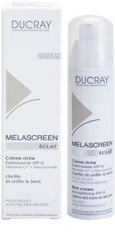 Ducray Melascreen výživný denný krém proti pigmentovým škvrnám SPF 15