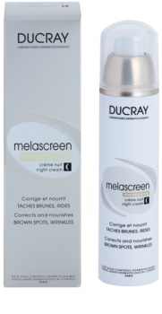 Ducray Melascreen Voedende Nachtcrème tegen Pigmentvlekken en Rimpeltjes