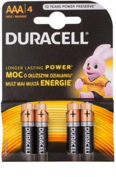 Duracell 1,5 V Alkaline AAA mikrotužková batéria 4 ks