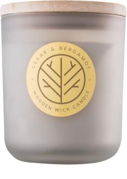 DW Home Cedar & Bergamont candela profumata 320,35 g con stoppino in legno