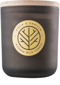 DW Home Smoked Birch & Vanilla scented candle Wooden Wick