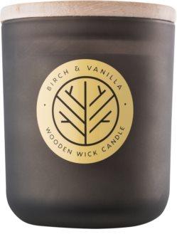 DW Home Smoked Birch & Vanilla vonná sviečka s dreveným knotom