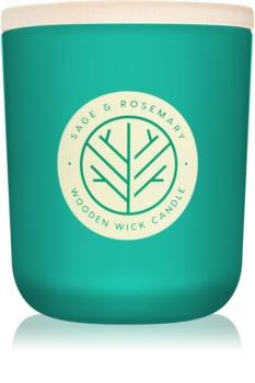 DW Home Sage & Rosemary dišeča sveča  z lesenim stenjem 320,49 g