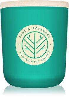 DW Home Sage & Rosemary vonná sviečka 320,49 g s dreveným knotom