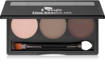 E style Fine Beauty paleta pro líčení obočí
