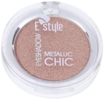 E style Metallic Chic metaliczne cienie do powiek