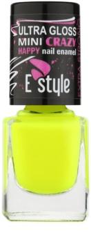 E style Mini Crazy neonski lak za umetne nohte