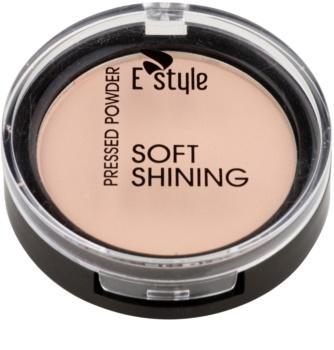 E style Soft Shining rozjasňující kompaktní pudr pro ideální odstín pleti