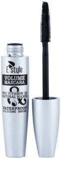 E style Volume Waterproof Mascara řasenka pro objem a zahuštění řas
