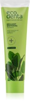 Ecodenta Green Brilliant Whitening dentifrice blanchissant pour une haleine fraîche