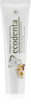Ecodenta Green Sensitivity Relief zubná pasta pre citlivé zuby s fluoridom