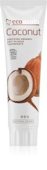 Ecodenta Cosmos Organic Coconut dentifricio senza fluoro per rinforzare lo smalto