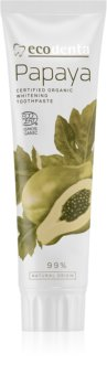 Ecodenta Cosmos Organic Papaya избелваща паста за зъби с флуорид