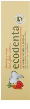 Ecodenta Kids zubná pasta pre deti s vôňou lesný jahôd a extraktom z mrkvy